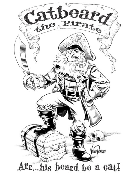 Catbeeard the Pirate Inks by Vince Dorse