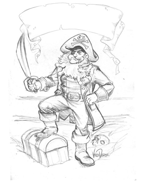 Cztbeard The Pirate Pencils by Vince Dorse
