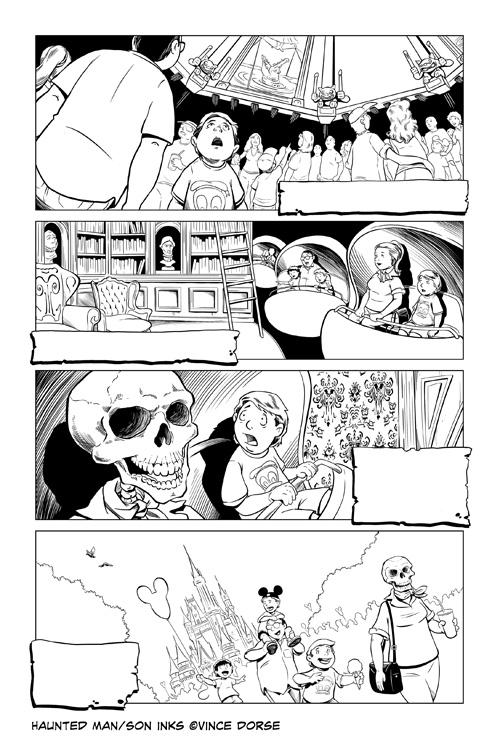 Haunted Man/Son inks