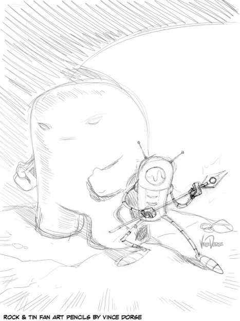 Rock And Tin pencils by Vince Dorse