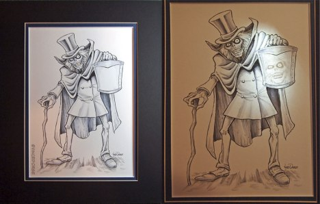 Hatbox Ghost by Vince Dorse, matted with light