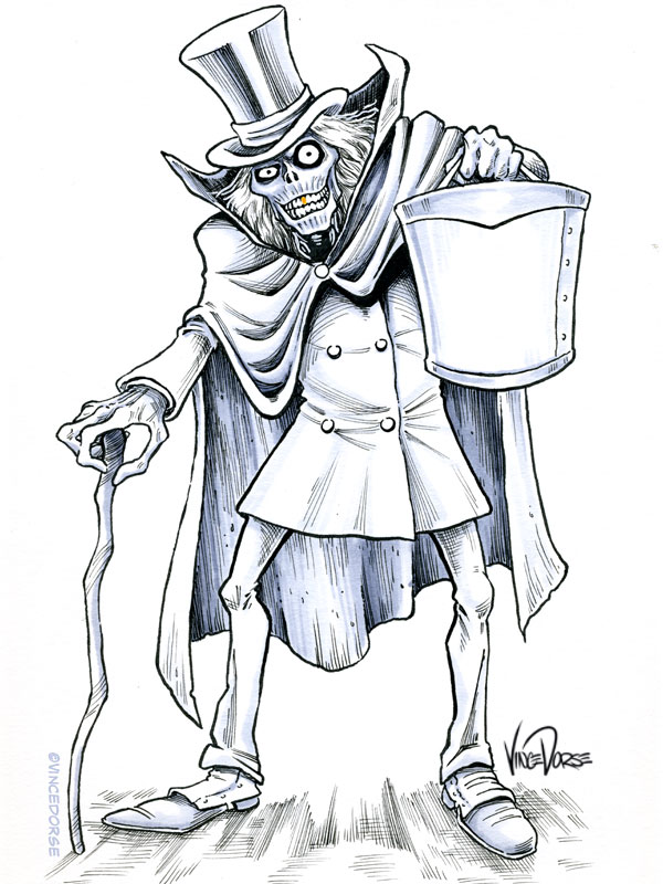 haunted mansion   s hatbox ghost  natural media process Bat Coloring Book  Coloring Book Ghost