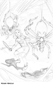 Sidekick Quests pencils by Vince Dorse