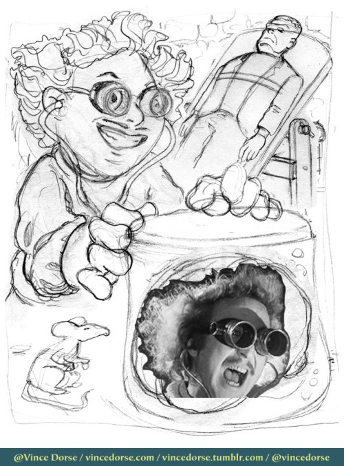 Dr. Frankenbrain rough sketch