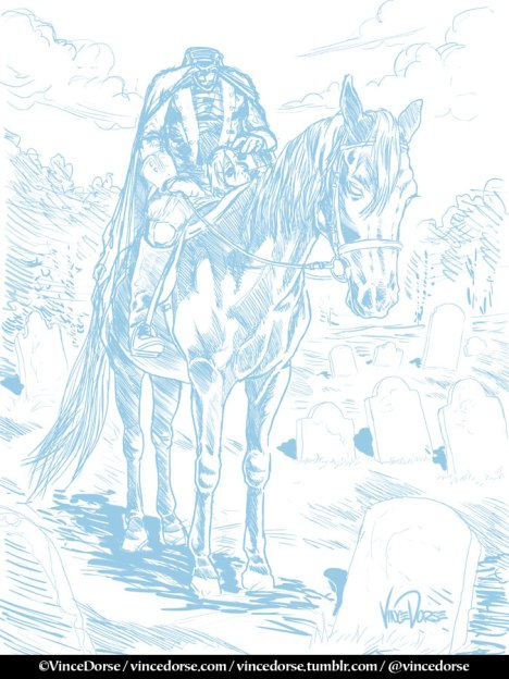 Headless Horseman pencils by Vince Dorse