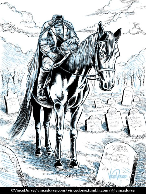 Headless Horseman inks by Vince Dorse