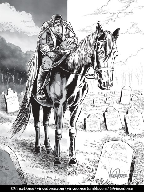 Headless Horseman grey tones by Vince Dorse