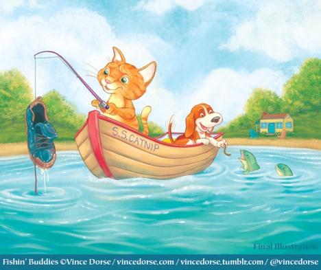Fishin' Buddies by Vince Dorse