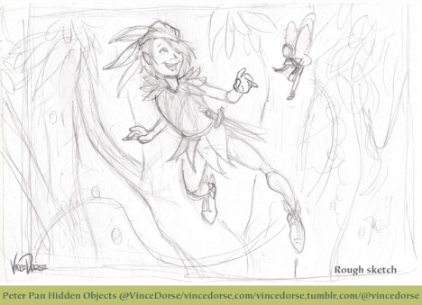 Peter Pan rough sketch