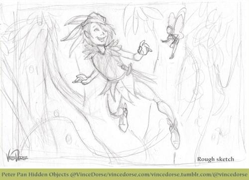 Peter Pan rough sketch
