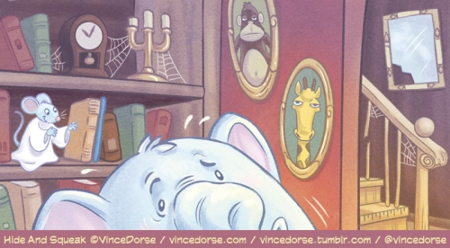 Hide and Squeak illustration, puzzle, details