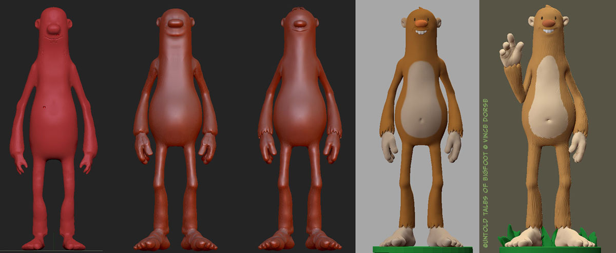 Early mesh for Untold Tales of Bigfoot figure