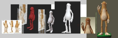 3D modeling process for Untold Tales of Bigfoot figure