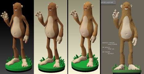 Untold Tales of Bigfoot 3D figure by Blokko process