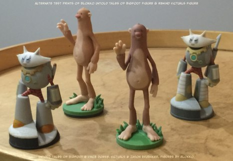 Untold Tales of Bigfoot 3D figure test prints by Blokko