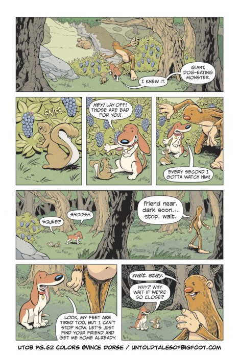 page 62 from Untold Tales of Bigfoot, process steps