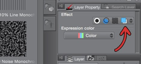 Layer Color button in MangaStudio