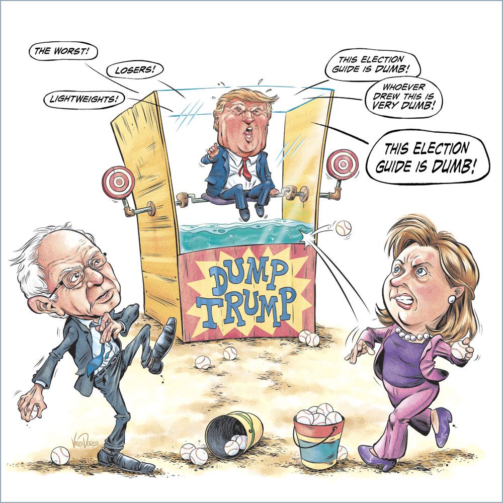 Image result for Cartoon Donald Trump Sore loser
